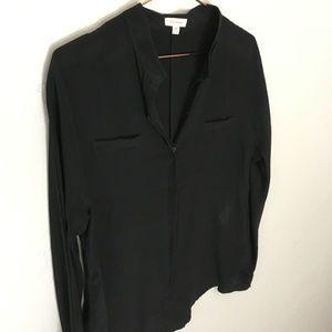 Relaxed Silk Dolman Shirt